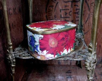 Cote D' Or Tin, French Vintage Tin, Decorative Tin, Floral Tin, French Vintage, Kitchenalia, Storage Tin, French Decor, Chocolate Tin