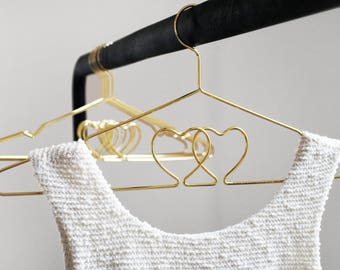 Bridal hanger * wedding dress coat hanger gold plated / / wedding ironing * wedding dress hanger gold plated