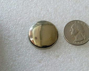 golden pyrite cabochon natural gemstone 47.10cts size 25x25x3mm