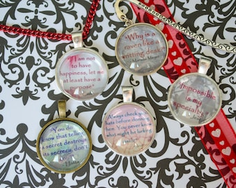Heartless Quotes pendants and bookmarks