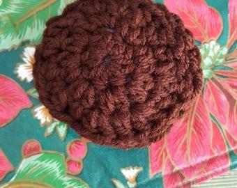 Crochet brown cinnamon scented pad