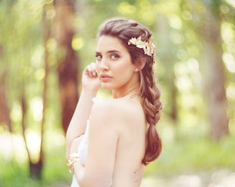 Bridal Headpiece, Wedding Headpiece, Bridal Hair Accessories, Boho wedding, Bridal Tiara, Boho Headpiece, Gold headpiece, Boho Comb