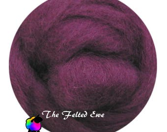 Needle Felting Wool Roving / DR21 Mullberry Madness Carded Wool Roving