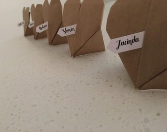 Love Heart Place Cards