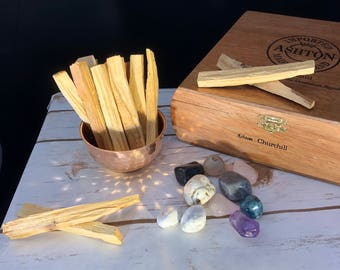 High quality palo santo sticks, smudge, sweet wood, ritual, cleanse, purify