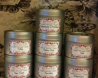 Sensual Edible Massage Candles - 100g ~ Natural Oils - Erotic ~ Made in UK