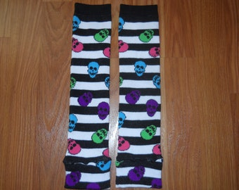 Colorful Skull Leg Warmers