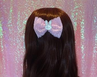 Kawaii Sweet Lolita Precious Bunny Pink Lace Bow