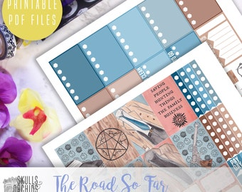 The Road So Far Weekly Kit - Printable Stickers for HAPPY PLANNER