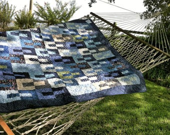 Charming Blue Large Lap Quilt