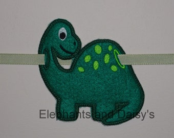 Dinosaur Banner Embroidery  Design files.