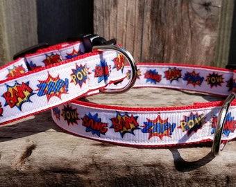 POW BAM ZAP! dog collar