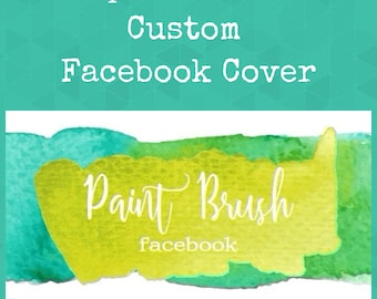 Add On-CUSTOM FACEBOOK COVER-Watercolor Facebook Cover-Paint Facebook Cover plus a free blank icon