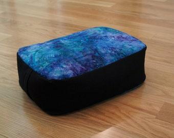 Batik Meditation Cushion with Organic buckwheat hull filling