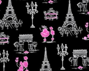 Ink and Arrow, C'EST LA VIE, Poodles & Paris on Black, yard