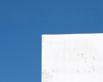 Blue and White Minimalist Photograph