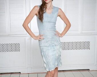 Bodycon Dress, Pencil Dress, Felted Dress, Light Blue Dress, Short Wedding Dress, Summer Dress, Fitted Dress, Sleeveless Dress, Tank Dress