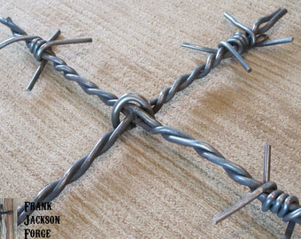 Barb Wire Steel Wall Cross by Frank Jackson Forge