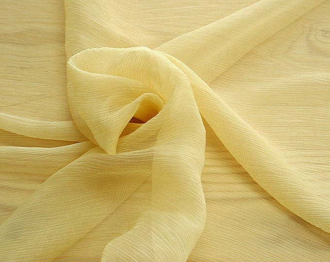 326070-Chiffon Natural silk 100%, width 127/130 cm, made in Italy, dry cleaning, weight 29 gr