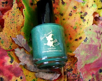 Harvest Festival with optional scent - custom evergreen holo holographic nail polish