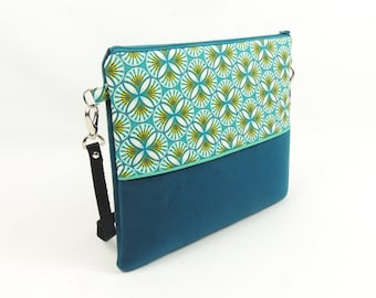 Blue Velvet clutch bag