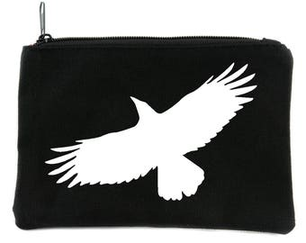 Mystical Raven Crow Cosmetic Makeup Bag Pouch Alternative Gothic Accessories - DYS-HTV-006-MKBG