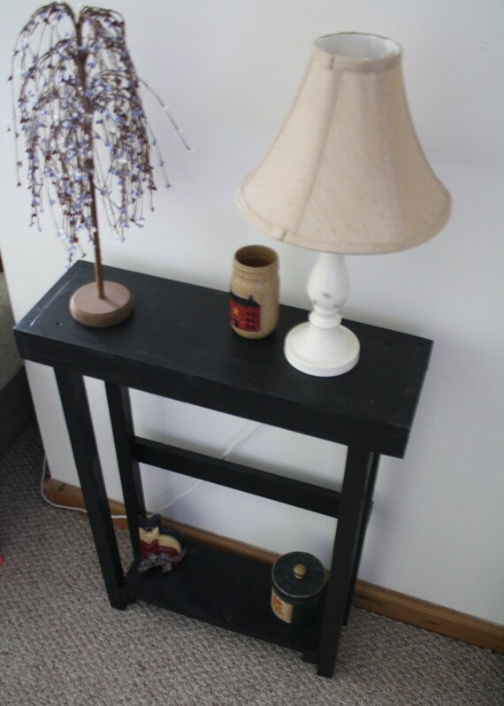 Beautiful Primitive Small Black Painted TALL Skinny SOFA