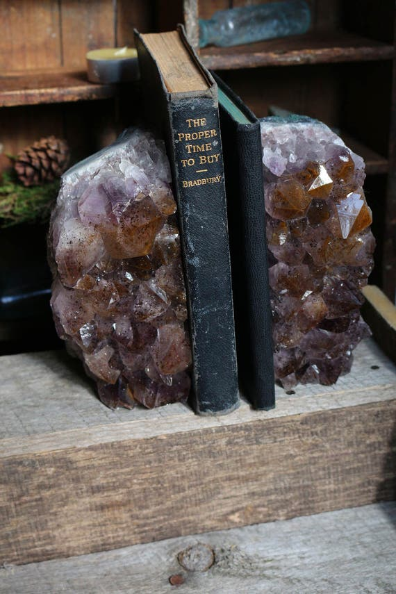Ametrine Geode Bookends 2.92kg, Large Ametrine, Ametrine Geode Pair, Ametrine Cluster, Crystal Bookends, College Gift, Crystal Decor