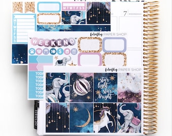 Starlight MINI Weekly Kit (stickers for Erin Condren Life Planner - Vertical)
