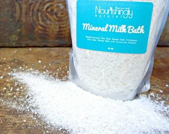 Milk Bath, Natural Bath Soak, Detox Bath with Epsom Salts, Himalayan Pink Salt Milk Bath, Organic Spa Bath, Luxury Bath, Cleopatra Bath Soak