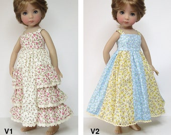 STRAIGHTFORWARD Sewing Pattern SSP-053: Two dresses for Dianna Effner Little Darlings. With petticoat. (Ellowyne Wilde, Kaye Wiggs Tobi)