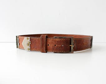Vintage Vera Neumann Belt • 70s Leather Belt • Brown Leather Belt • Vintage Leather Belt • Vintage Vera Belt • Vintage Brown Belt   BT369