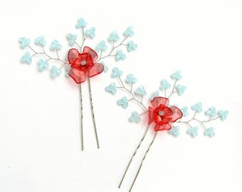 Bridal hair pin Hair wedding piece Hair wedding Hair piece Wedding piece Hair pin wedding Hair pin Hair wedding  Floral wedding hair piece