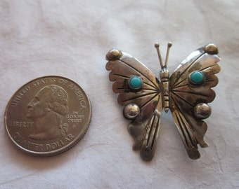 Sterling Butterfly Mexican Pin