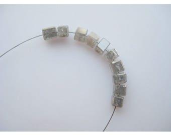 Diamond Bead, 10 Pieces Smooth Box Beads, Rough Diamonds, Natural Diamonds, Raw Diamond Beads, Approx 2mm Each