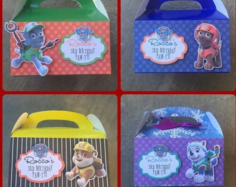 Paw Patrol favor boxes