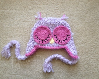 Who Gives a Hoot - owl beanie - Toddler