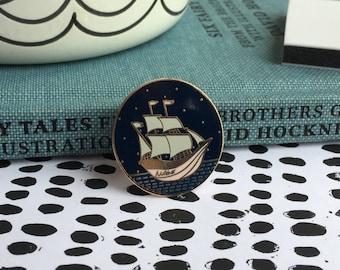 Mothership enamel pin, enamel pin, ship pin, mother pin, enamel ship pin, lapel pin, pin badge, new mum gift, new baby gift, mama pin
