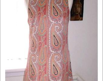 60s style paisley Mod dress