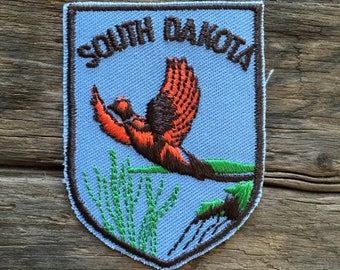 South Dakota Vintage Souvenir Travel Patch from Baxter Lane