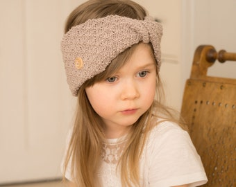 KNITTING PATTERN twisted double layer headband Aiki (baby to adult sizes)