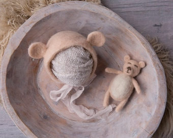 Newborn Bear Bonnet