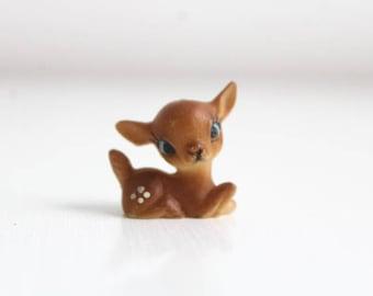 Deer Figurine, Miniature Deer, Terrarium Deer, Deer, Plastic Deer, Fairy Garden Deer, Tiny Deer, Miniature Fawn, Fawn Figurine, Plastic Fawn