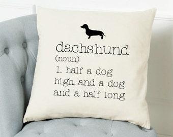 Dachshund Dictionary Cushion Cover
