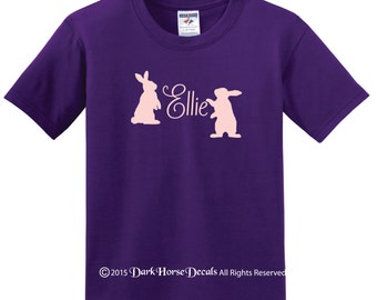 Personalized Sweet Bunny Girl's t-shirt with name