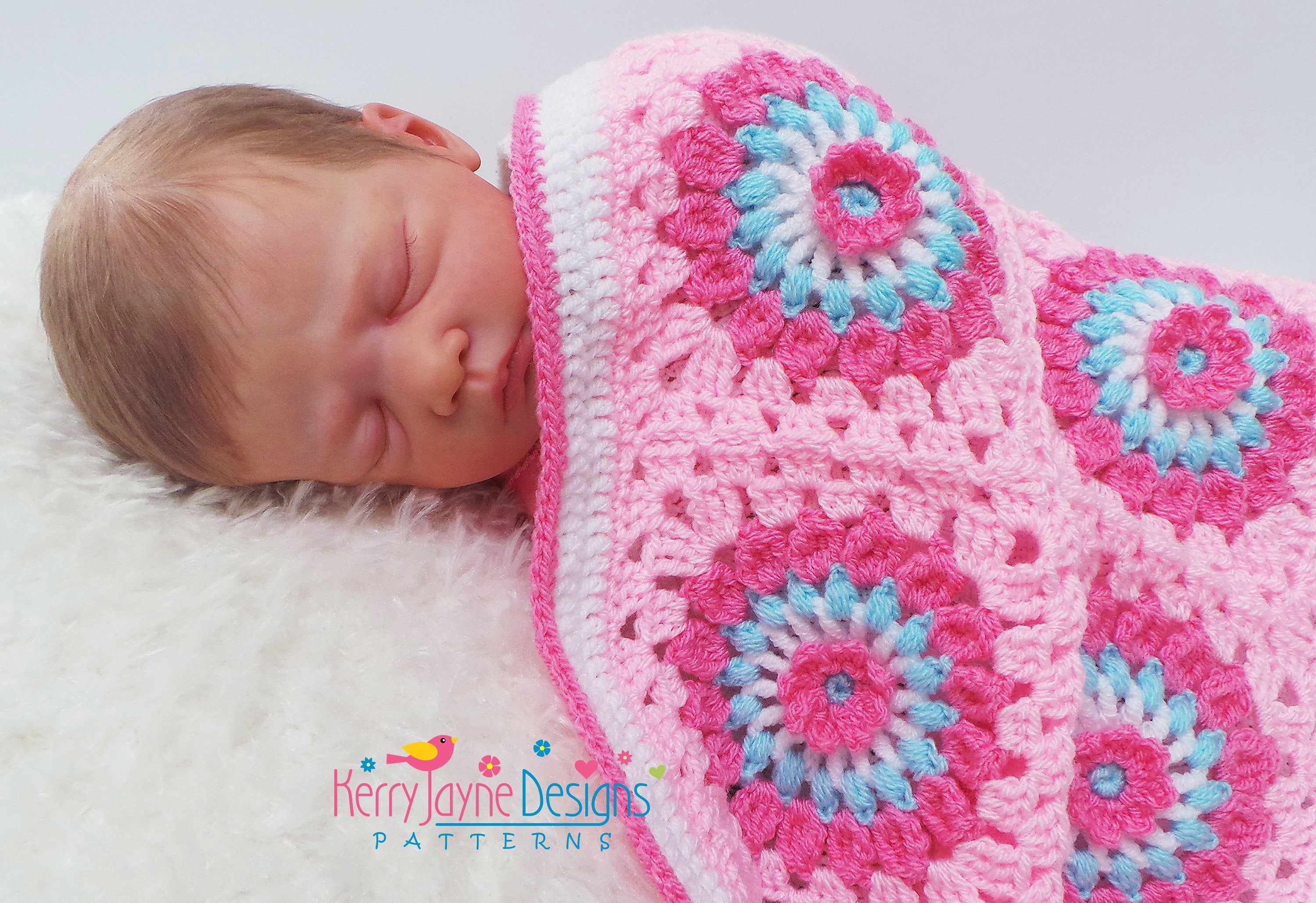 Amazing daisy crochet blanket pattern granny square blanket this is a digital file baditri Image collections