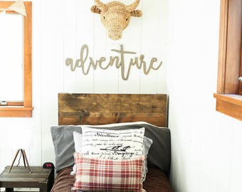 adventure | 3D word | cutout word | wooden word | gallery wall