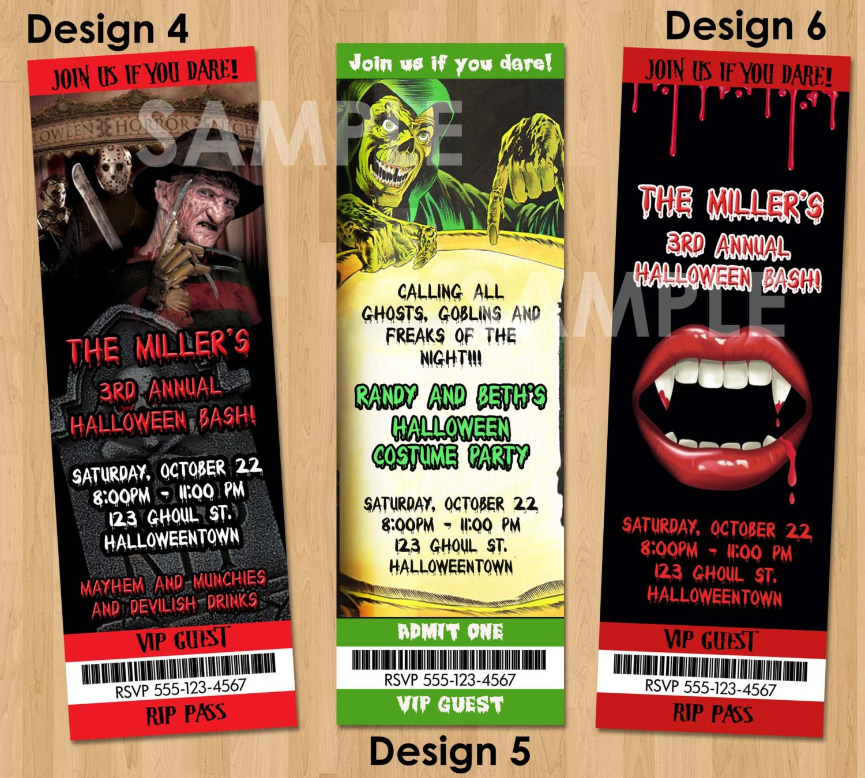 Fantastic Horror Party Invitations Sketch - Invitation Card Ideas ...