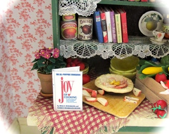 THE JOY Of COOKING Miniature Book Dollhouse Book 1:12 Scale Cookbook Cook Kitchen