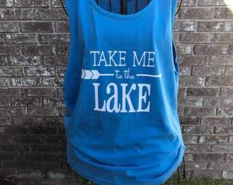 Take Me to the Lake Tank, Lake Shirt, Lake Tank, Summer Tank